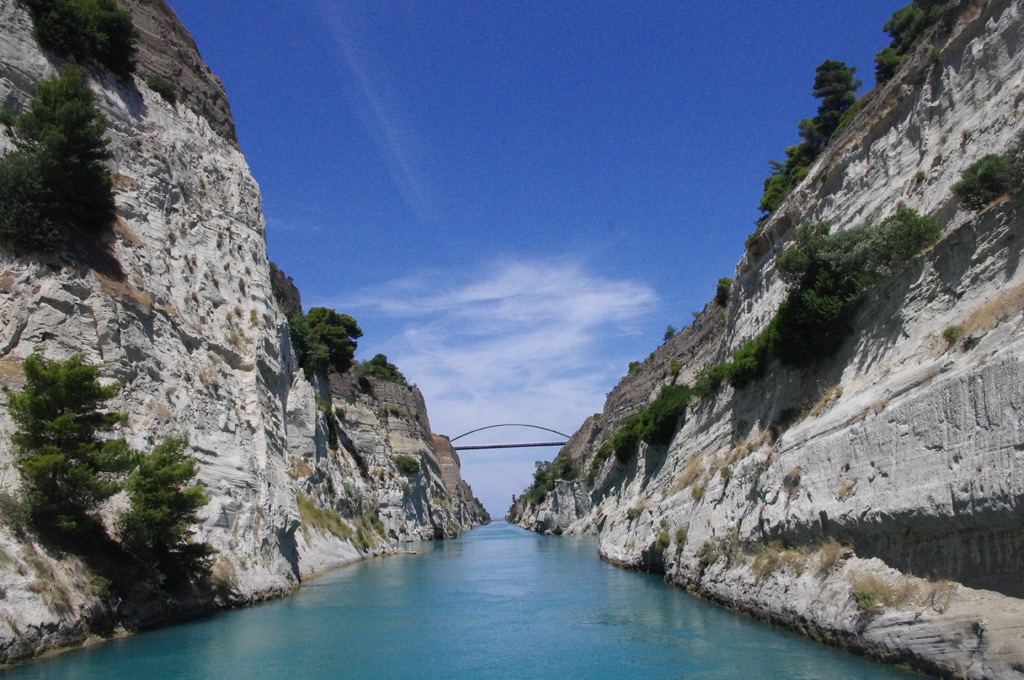 Corinth Canal crossing