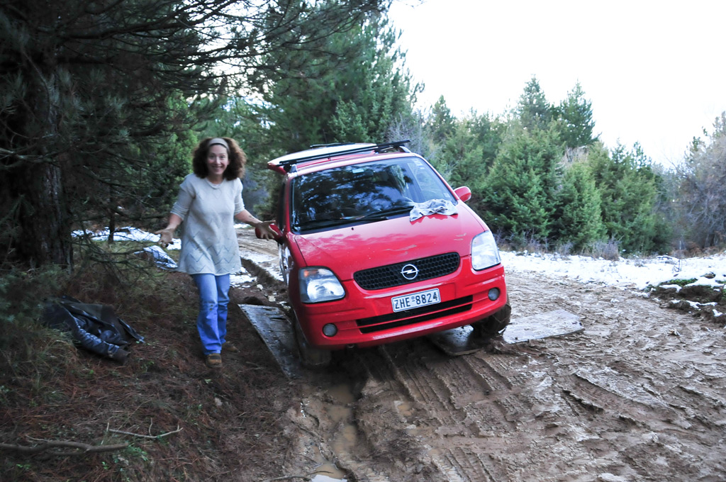 Mud therapy in the Peloponnesian mountains
