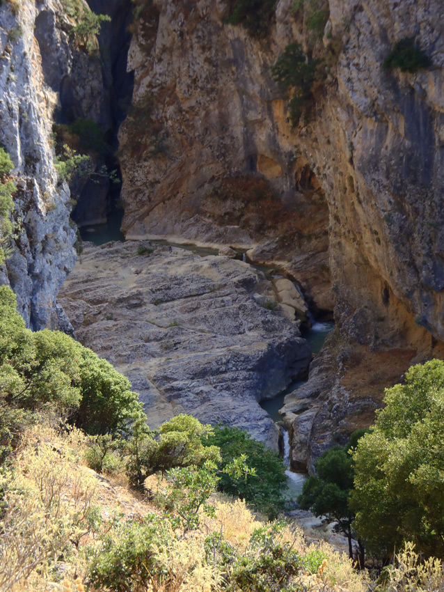 Canyoning in the Kallithea Gorge