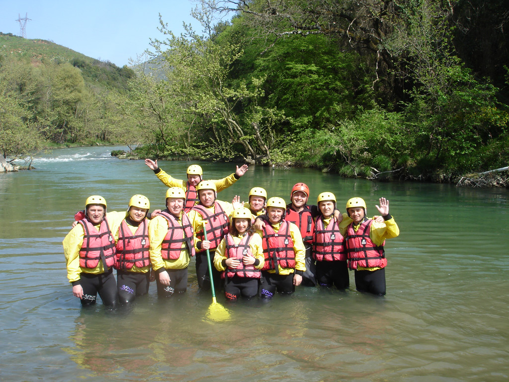 Rafting on river Lousios