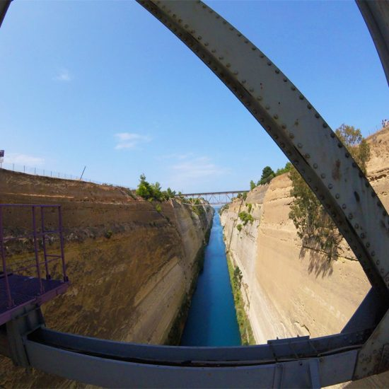 Bungy jumping from the bridge of the Canal of Corinth