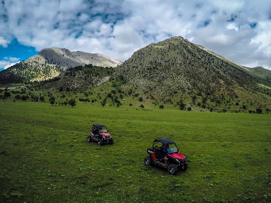 Explore Ziria with off-road mountain buggies